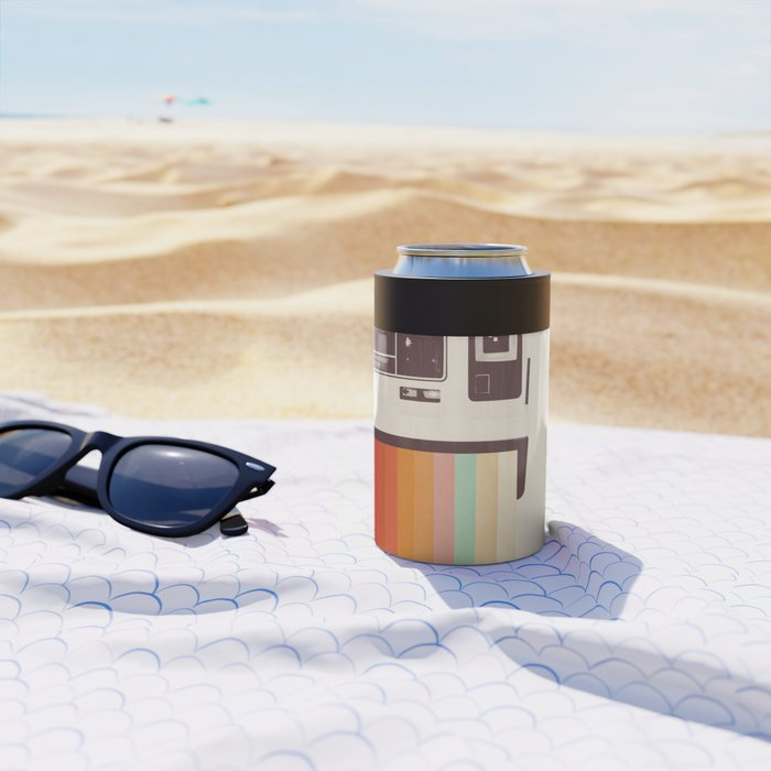 Instant Camera Rainbow Can Cooler