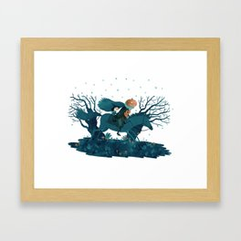 tricking and treating Framed Art Print