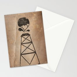 i fracking love you Stationery Cards