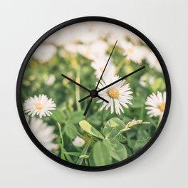 Field of Daisies 01 Wall Clock