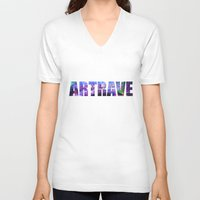artrave V-neck T-shirts featuring artRAVE Venus by ARTPOPdesigns