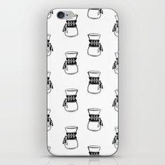 Chemex coffee maker black and white linocut minimal kitchen foodie pattern iPhone & iPod Skin