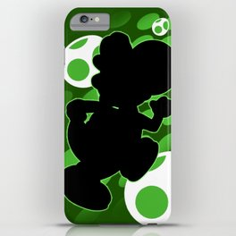 Super Smash Bros. Green Yoshi Silhouette iPhone Case