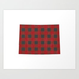 Colorado Plaid in Red Art Print