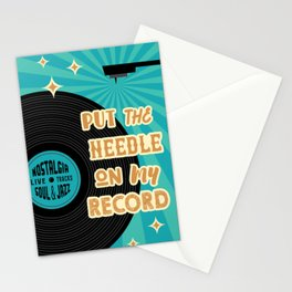 Put the needle on My record vinyl lover poster Stationery Cards