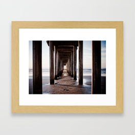 The lonely footstep Framed Art Print