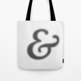 Halftone Ampersand Serif Tote Bag