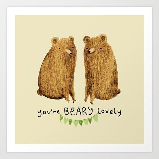 Beary Lovely Art Print