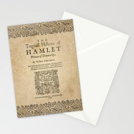 Shakespeare, Hamlet 1603 Stationery Cards