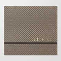 gucci Canvas Prints featuring Gucci Class by Goldflakes