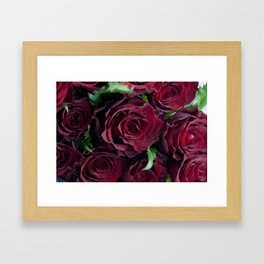 Say it with roses Framed Art Print