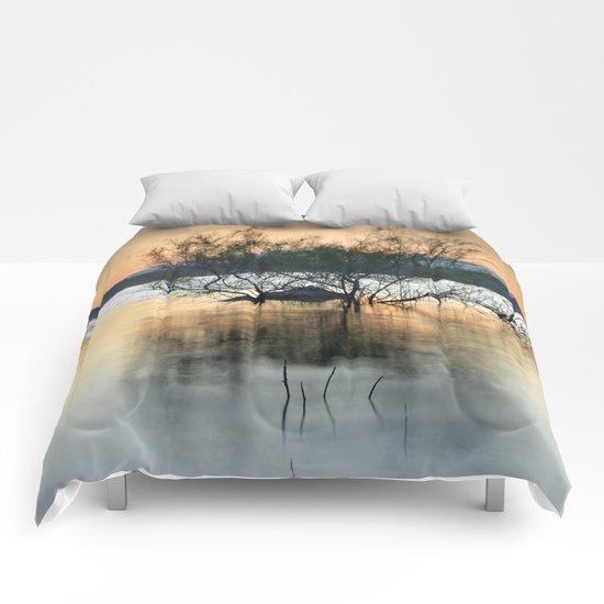 """Peace at the lake"". Dream sunset. Comforters"