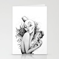 burlesque Stationery Cards featuring Burlesque by Zema