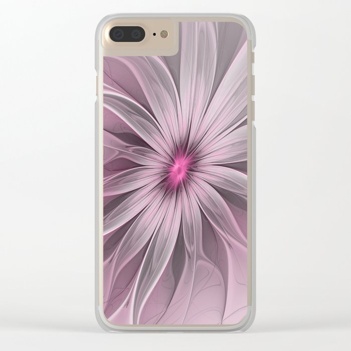 Flower waiting for a Bee Clear iPhone Case