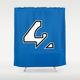 42 - Blue Shower Curtain