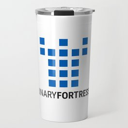Binary Fortress Software (blue logo) Travel Mug