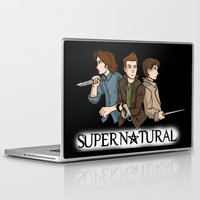 supernatural Laptop & iPad Skins featuring Supernatural by KewlZidane