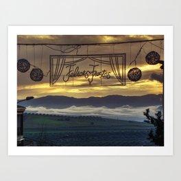 Felices Fiestas Art Print