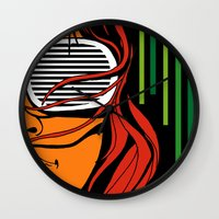 lips Wall Clocks featuring Lips by David Navascues