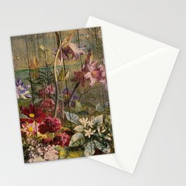 Old master on woodpanel Stationery Cards