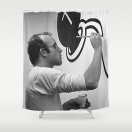 KEITH HARING PAINTING Shower Curtain