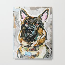 Hans the German Shepherd Metal Print