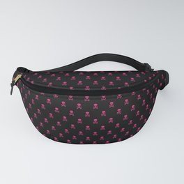 BLACK & PINK SKULLS ALL OVER PRINT SMALL Fanny Pack