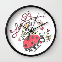 """Love Bug"" Wall Clock"