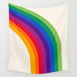 Groovy - rainbow 70s 1970s style retro throwback minimal happy hippie art decor Wall Tapestry