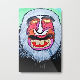 macaques monkey Metal Print