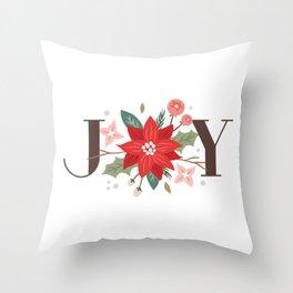 Joy Flourish - Pearl Throw Pillow