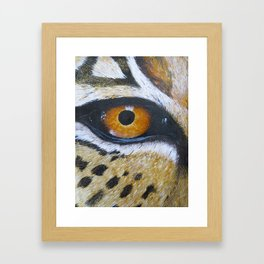 Eye See You Leopard Eye Framed Art Print