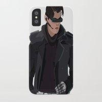 cyberpunk iPhone & iPod Cases featuring Cyberpunk Male Character by Jude Beavis