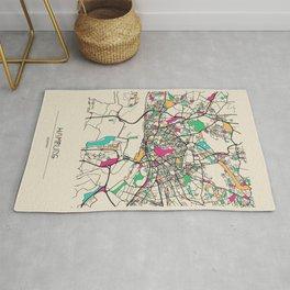 Colorful City Maps: Hamburg, Germany Rug