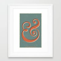 ampersand Framed Art Prints featuring Ampersand by Bill Pyle