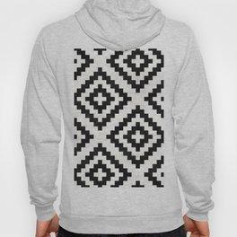 Urban Tribal Pattern No.18 - Aztec - Black and White Concrete Hoody