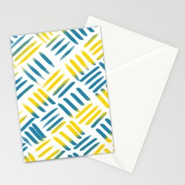Blue Yellow Stitch Stationery Cards