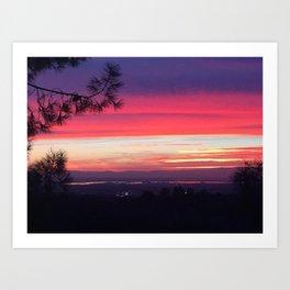 Fall Sunset I Art Print