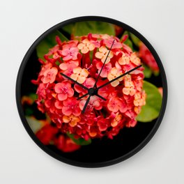 Maui Red Wall Clock