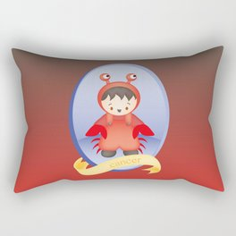 Cancer Child Zodiac Sign Illustration Rectangular Pillow