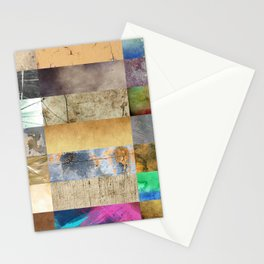 Texture Collage Stationery Cards