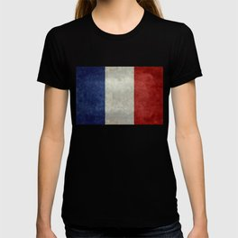 French Flag with vintage textures T-shirt
