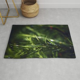 Larch needles after rain Rug