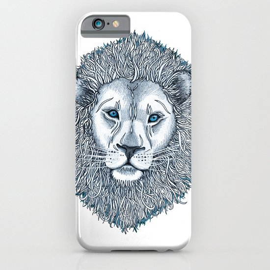 Blue Eyed Lion iPhone & iPod Case