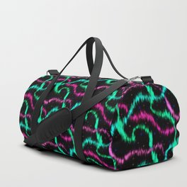 Impressionistic Painting of Aurora Borealis Pattern Duffle Bag