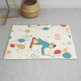 Seamless Pattern with Cute Clowns, air balloons Rug