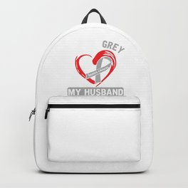 Cancer Survivor Cancer Fighter Chemotherapy Gift I Wear Grey For Brain Cancer  Chemo Brain Backpack