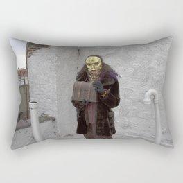 Wearing My Skeleton on My Face, No. 9 Rectangular Pillow