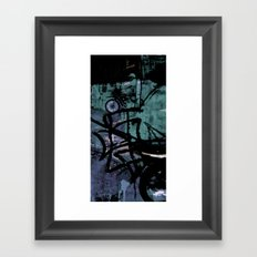 Retrollage 4.. Framed Art Print
