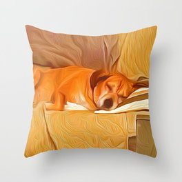 Lucy Sleeping East Throw Pillow